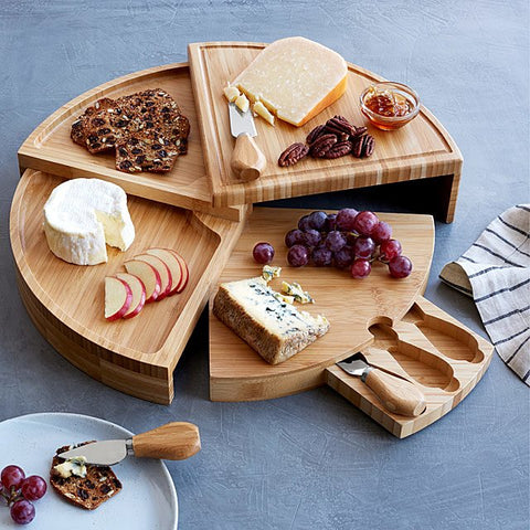 Compact Swivel Cheese Board with Knives, for AutoBrush