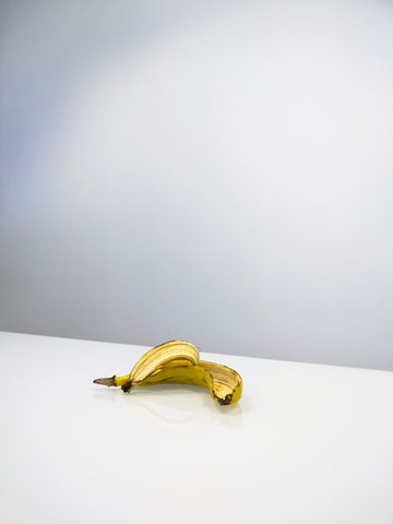 Banana peel on a white floor, for Autobrush