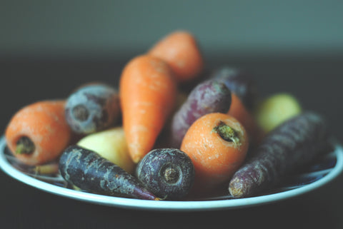 Carrots on a plate, for Autobrush