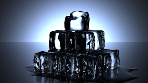 Ice cubes piled on top of each other forming a pyramid, for AutoBrush
