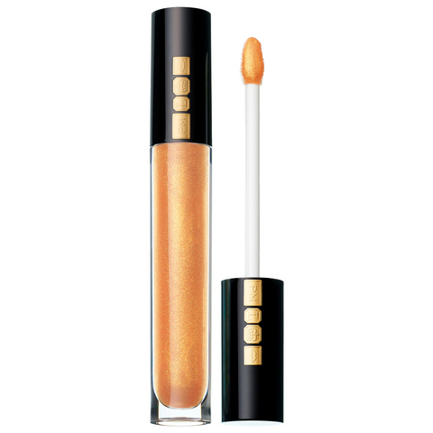 Gold lip gloss on white background, for AutoBrush