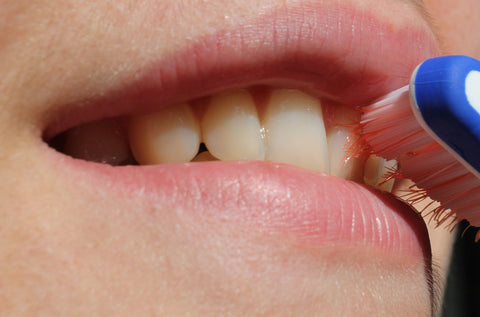 Close up of someone's mouth while teeth is being brushed, for AutoBrush
