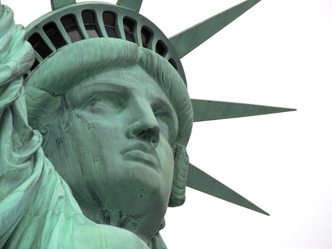 Close up look of the Statue of Liberty, for AutoBrush.