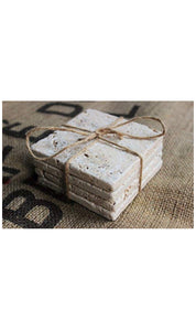 Travertine Stone Coasters