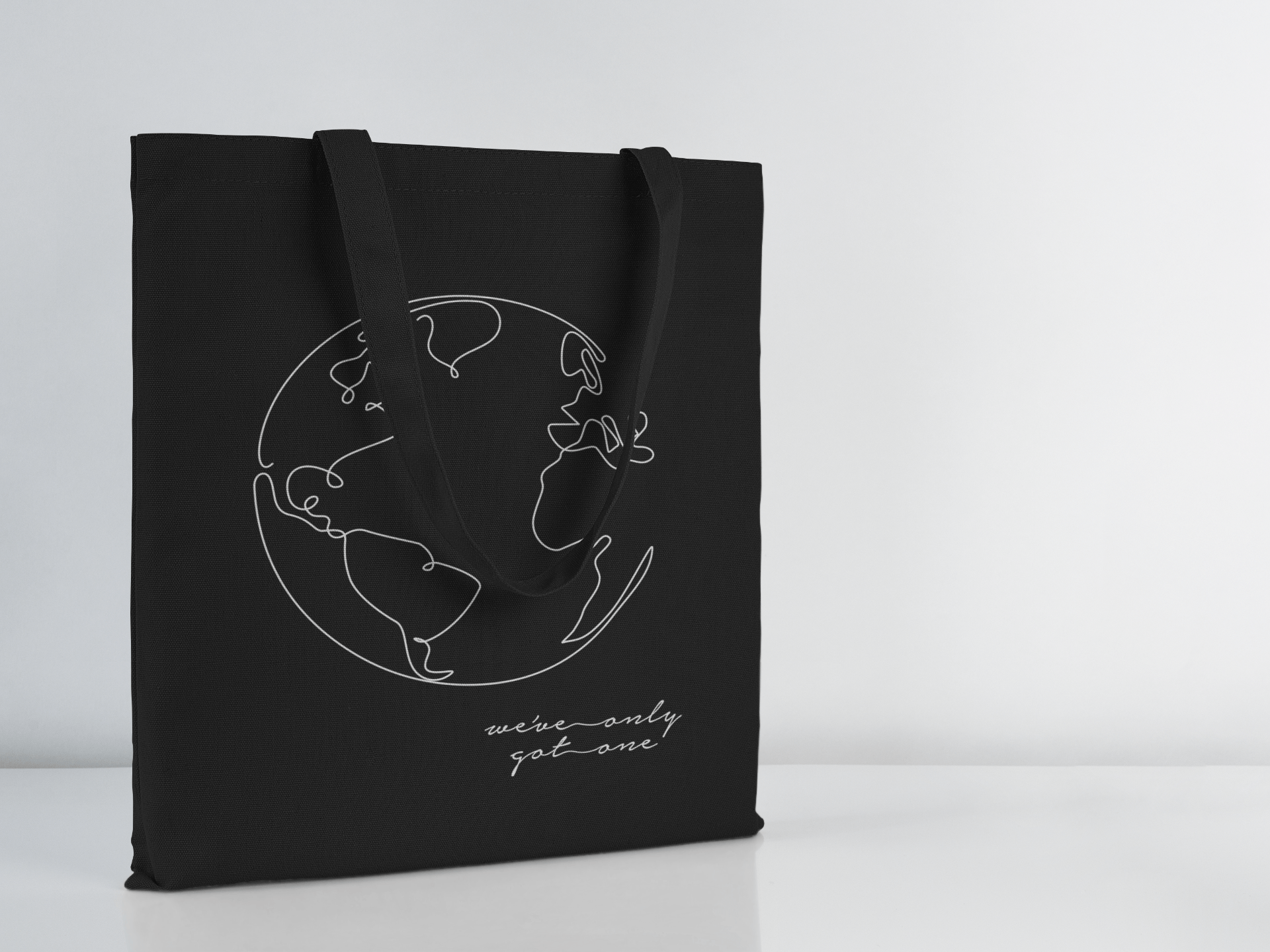 We've Only Got One | Black Tote | ON YOUR SLEEVE