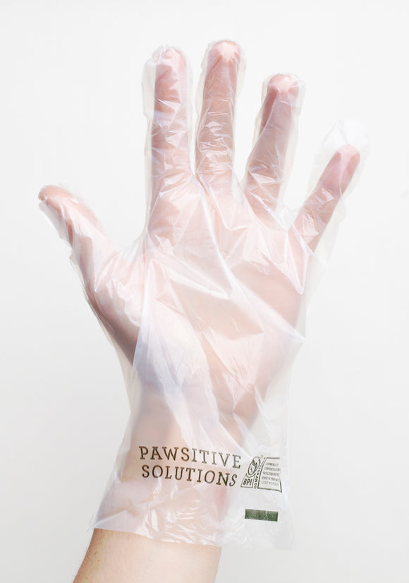 Compostable Disposable Gloves BPI certified for green bin use. Free shipping. PPE equipment food safe disposable gloves for your hands.