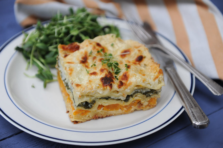 Creamy Kale and Squash Lasagna