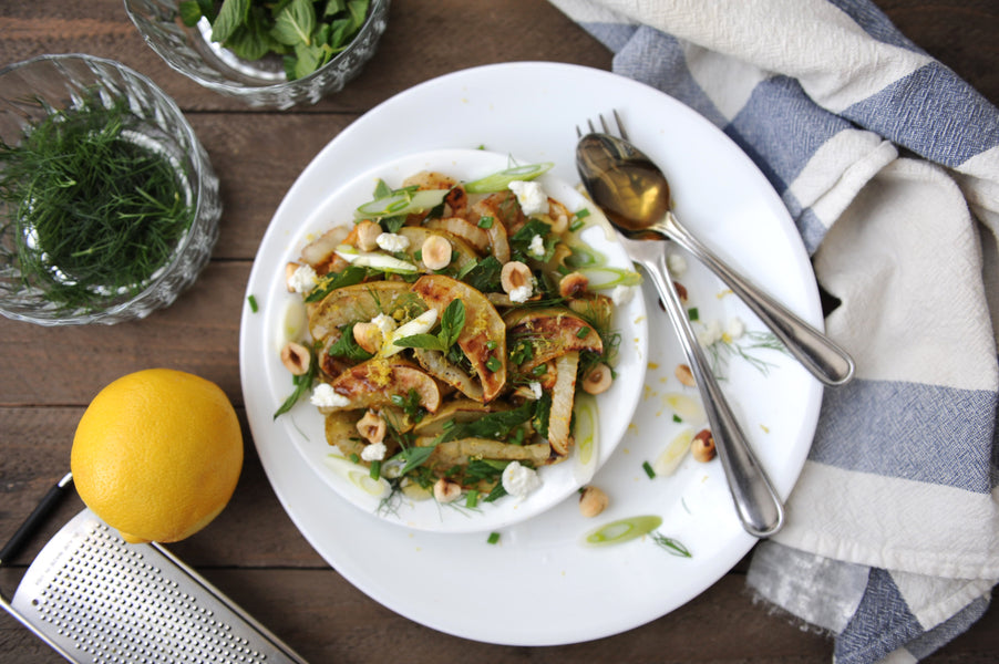 Grilled Apple + Fennel Salad from Food 52