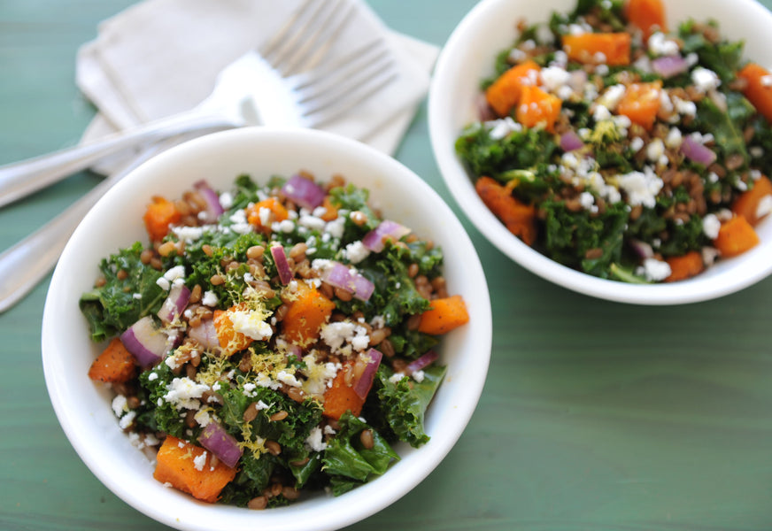 Winter Squash + Wheat Berry Salad