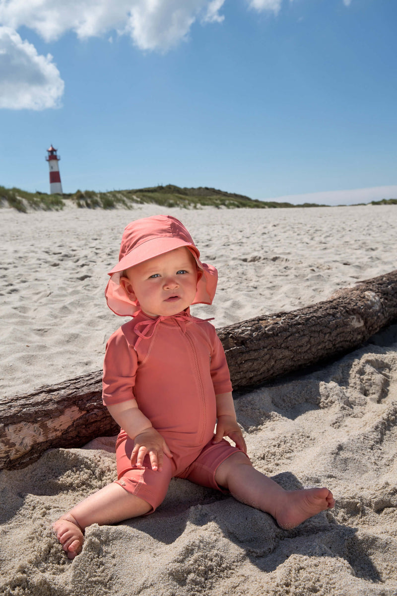 Sonnenhut UV-Schutz 80 || Sun Protection Flap Hat Coral