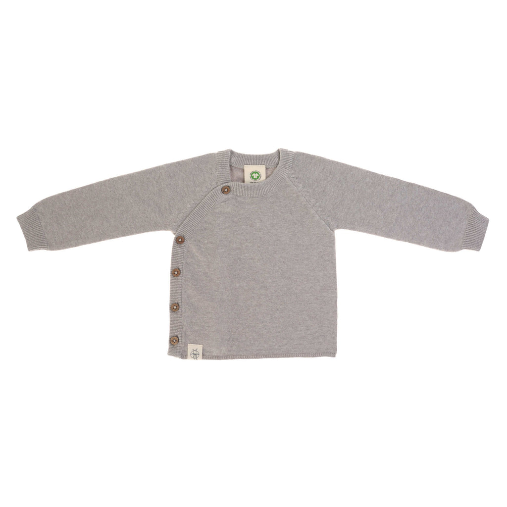 Knitted Kimono || Pullover Garden Explorer Light Grey