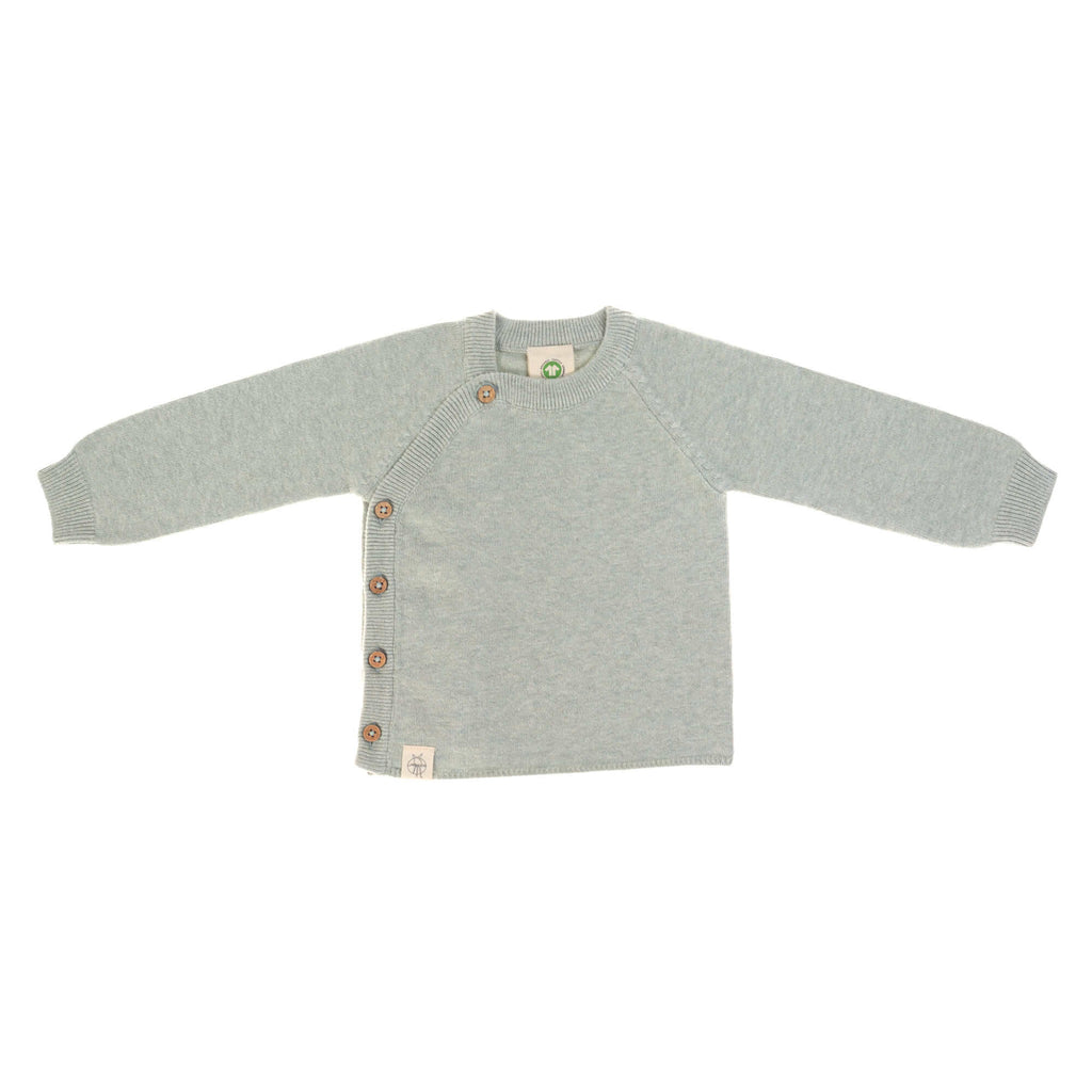 Knitted Kimono || Pullover Garden Explorer Light Aqua Grey