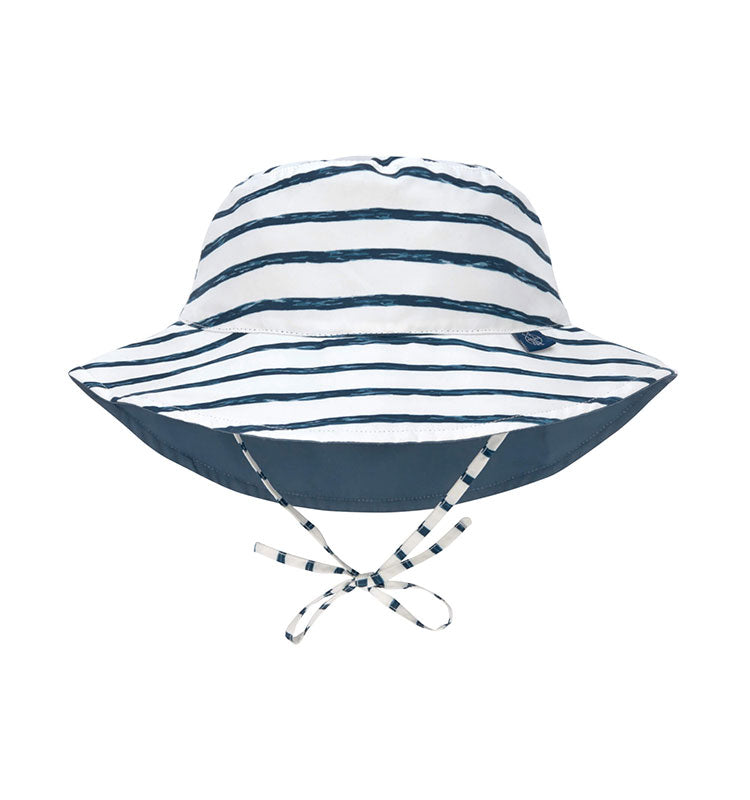 Sonnenhut UV-Schutz 80 || Bucket Hat Stripes Navy