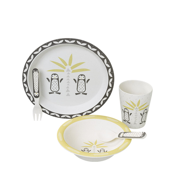 Bambus Dinner Set || Pinguin