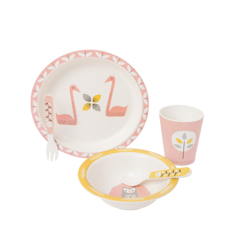 Bambus Dinner Set || Schwan