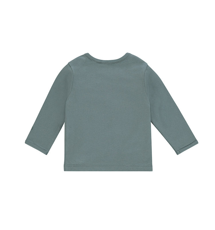 Langarm-Shirt || Amanda little Elefant dark green