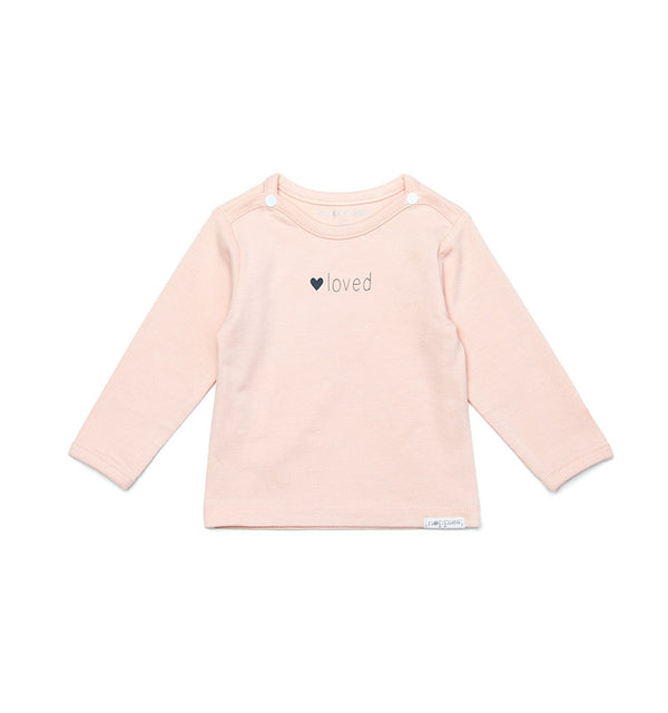 Langarm-Shirt || YVON loved rosé