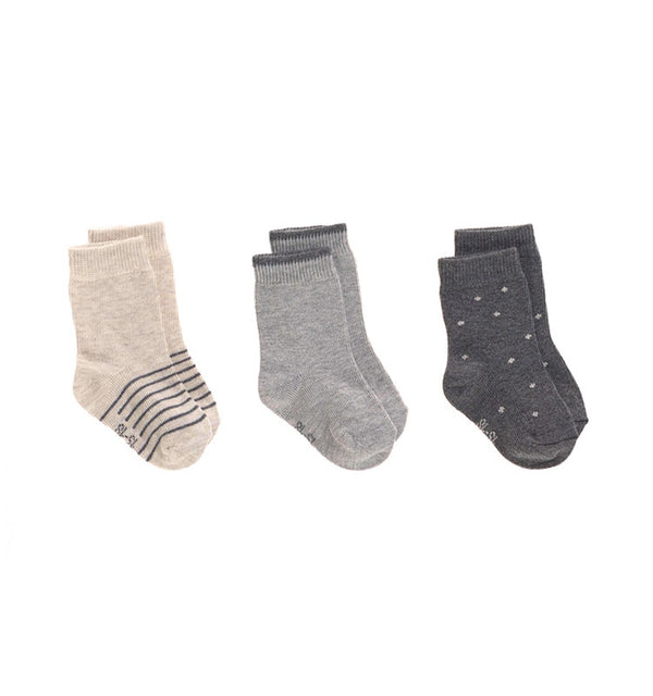 Kindersocken 3er Set || Socks Grey