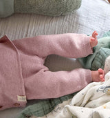 Baby Hose || Knitted Pants GOTS, Garden Explorer Light Pink