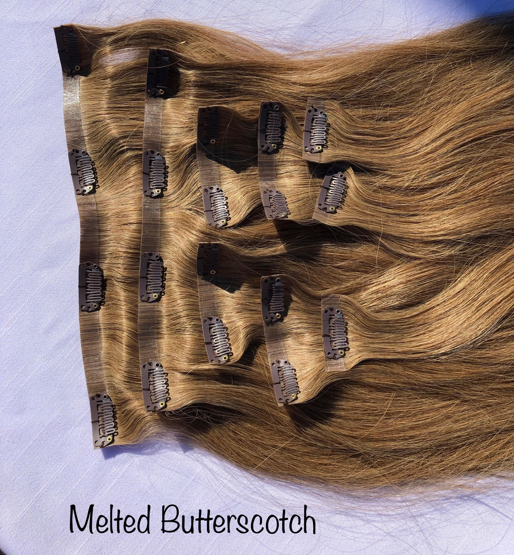 Milahnia Clip-Ins Melted Butterscotch