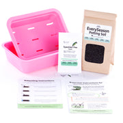 The EverySeason Garden Kit - Pink Planter. A Fun & easy indoor garden that makes a great gardening gift for beginners, families, foodies, teachers & plant lovers.