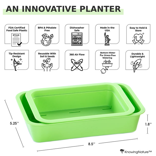 KnowingNature Planter + Tray