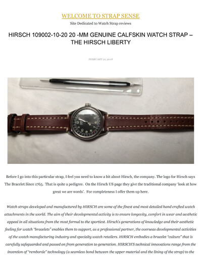 Strap Sense Hirsch Liberty strap review