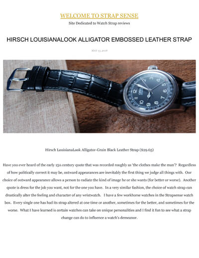 Strap Sense Hirsch Louisiana strap review