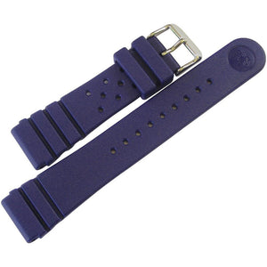 Bonetto Cinturini Rubber Watch Strap 284 Blue - Holben's Fine Watch Bands
