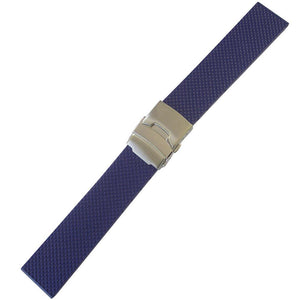 Bonetto Cinturini Rubber Watch Strap 300D Blue-Holben's Fine Watch Bands