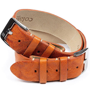 ColaReb Leather Watch Strap A14 Strip Rust-Holben's Fine Watch Bands