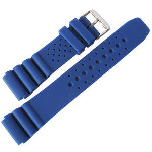 DeBeer 911 Silicone Rubber Watch Strap Blue-Holben's Fine Watch Bands