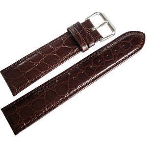 DeBeer Alligator-Grain Leather Brown-Holben's Fine Watch Bands