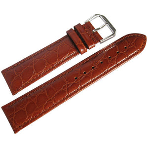 DeBeer Alligator-Grain Leather Watch Strap Havana-Holben's Fine Watch Bands