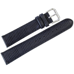 DeBeer Lizard-Grain Leather Watch Strap Blue-Holben's Fine Watch Bands