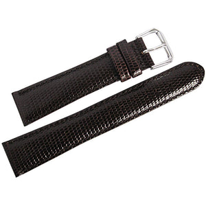 DeBeer Lizard-Grain Leather Watch Strap Brown-Holben's Fine Watch Bands