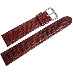 DeBeer Lizard-Grain Leather Havana-Holben's Fine Watch Bands