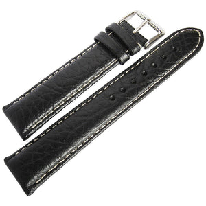 DeBeer Sport Leather Watch Strap Black-Holben's Fine Watch Bands