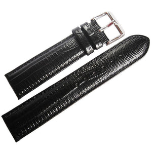 DeBeer Teju Lizard-Grain Leather Black-Holben's Fine Watch Bands