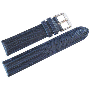 DeBeer Teju Lizard-Grain Leather Blue-Holben's Fine Watch Bands