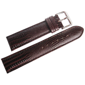 DeBeer Teju Lizard-Grain Leather Brown-Holben's Fine Watch Bands