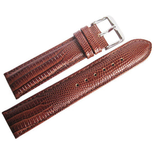DeBeer Teju Lizard-Grain Leather Watch Strap Havana-Holben's Fine Watch Bands