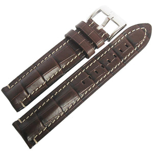 Di-Modell Bali Chrono Brown Alligator Leather Watch Strap-Holben's Fine Watch Bands