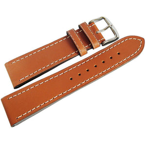Di-Modell Jumbo Leather Watch Strap Tan-Holben's Fine Watch Bands