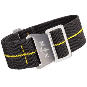 Erika's Originals MN Watch Strap Black Ops Yellow-Holben's Fine Watch Bands