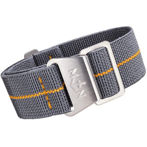 Erika's Originals MN Watch Strap Mirage Gray Orange-Holben's Fine Watch Bands