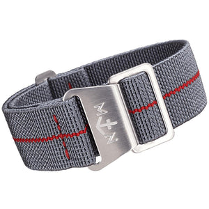 Erika's Originals MN Watch Strap Mirage Gray Red-Holben's Fine Watch Bands