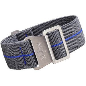 Erika's Originals MN Watch Strap Mirage Gray Royal Blue-Holben's Fine Watch Bands