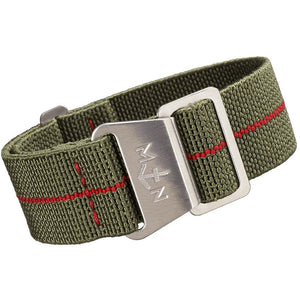 Erika's Originals MN Watch Strap Green Red-Holben's Fine Watch Bands