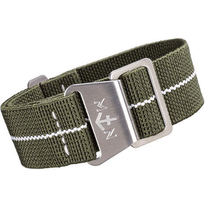 Erika's Originals MN Watch Strap Green White-Holben's Fine Watch Bands